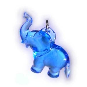 Zawieszka słonik niebieski