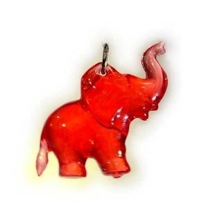Zawieszka słonik czerwony