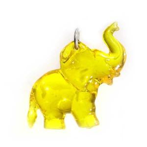 Zawieszka słonik żółty