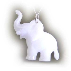 Zawieszka słonik biały