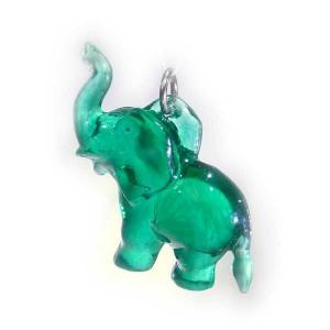 Zawieszka słonik zielony