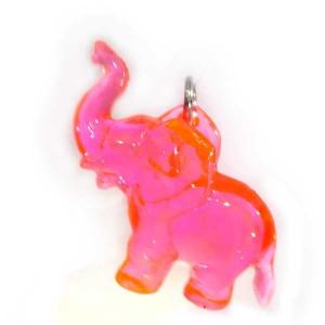 Zawieszka słonik różowy