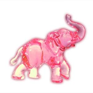 Słonik stojący różowy